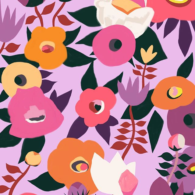 I think this botanic piece is finished now.  #wip #painting #artoftheday #artgram #artofinstagram #instaartist #artwork #instaart #igartist #commissions #surfacedesign #artistoninstagram #licensing #flowers #botanic #colourful #pattern #foliofocus2019 #foliofocus #risedesignandshine #theydrawandgarden #marmalademoon