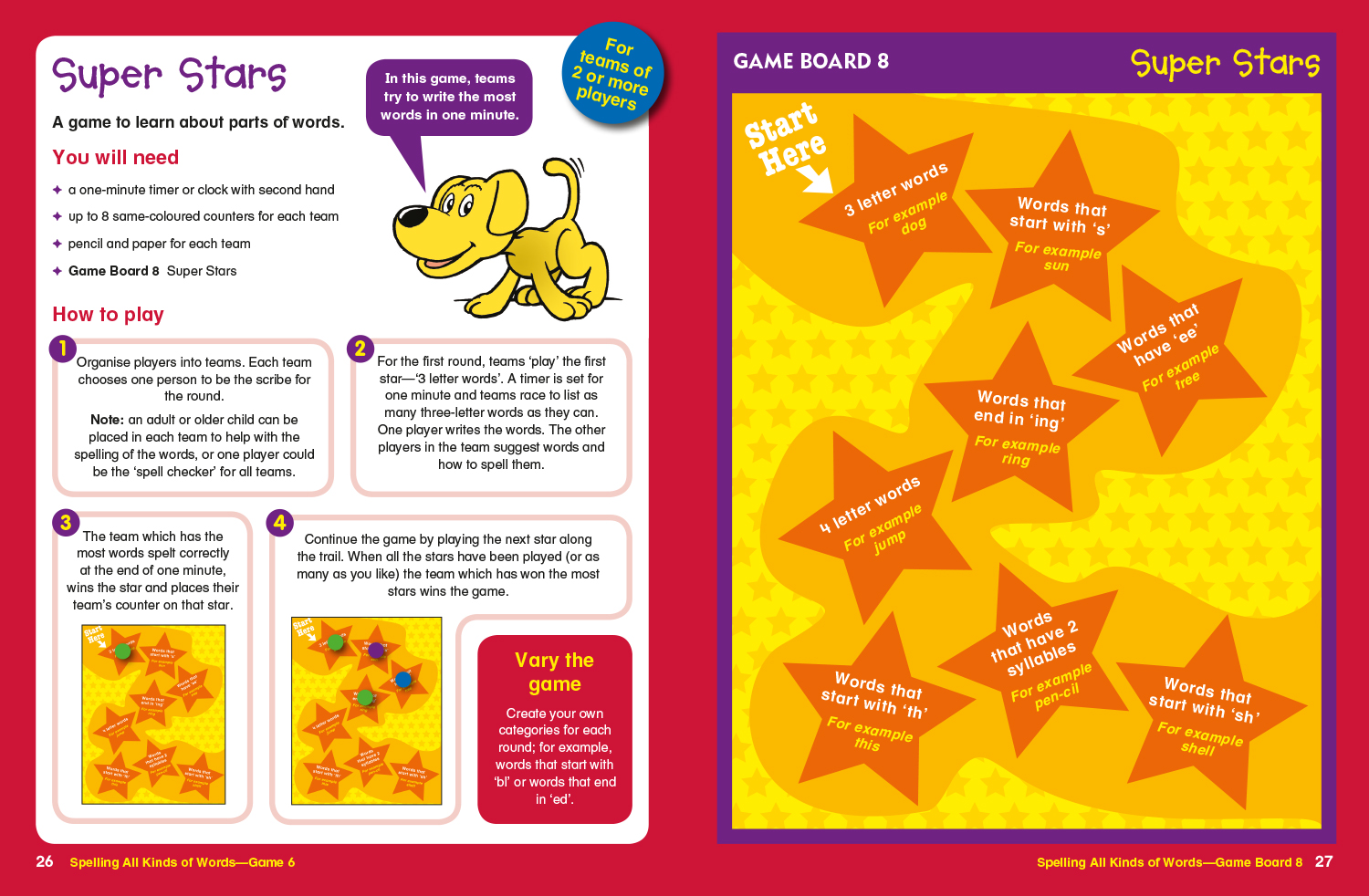 Sample spread from Word games level 2