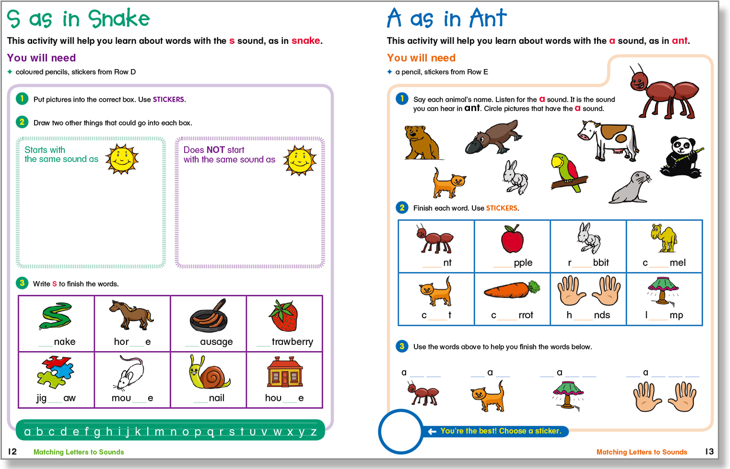 Sample spread from Word Study level 1