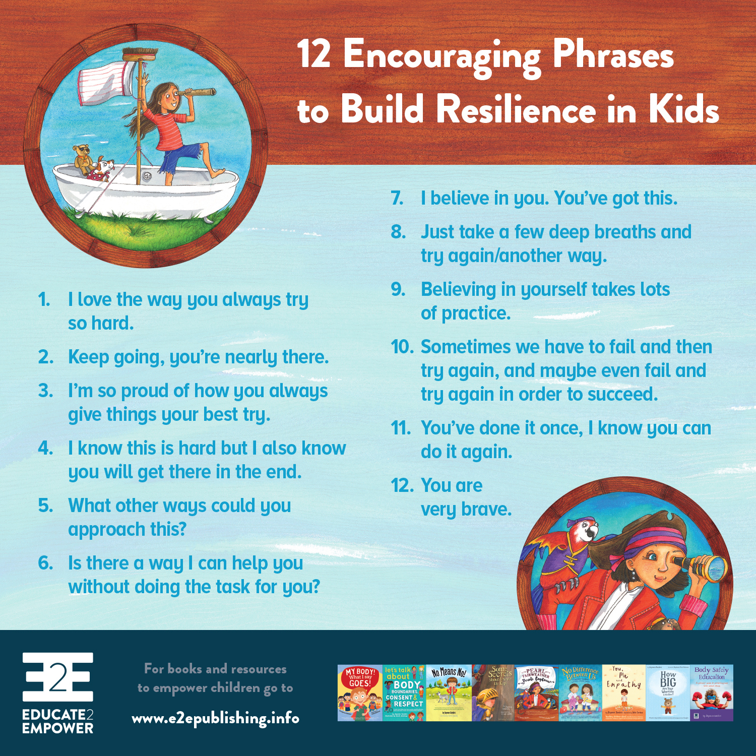 12 Encouraging Phrases to Build Resilience in Kids - Would you like a copy?To download, right/control click on on the linkand select