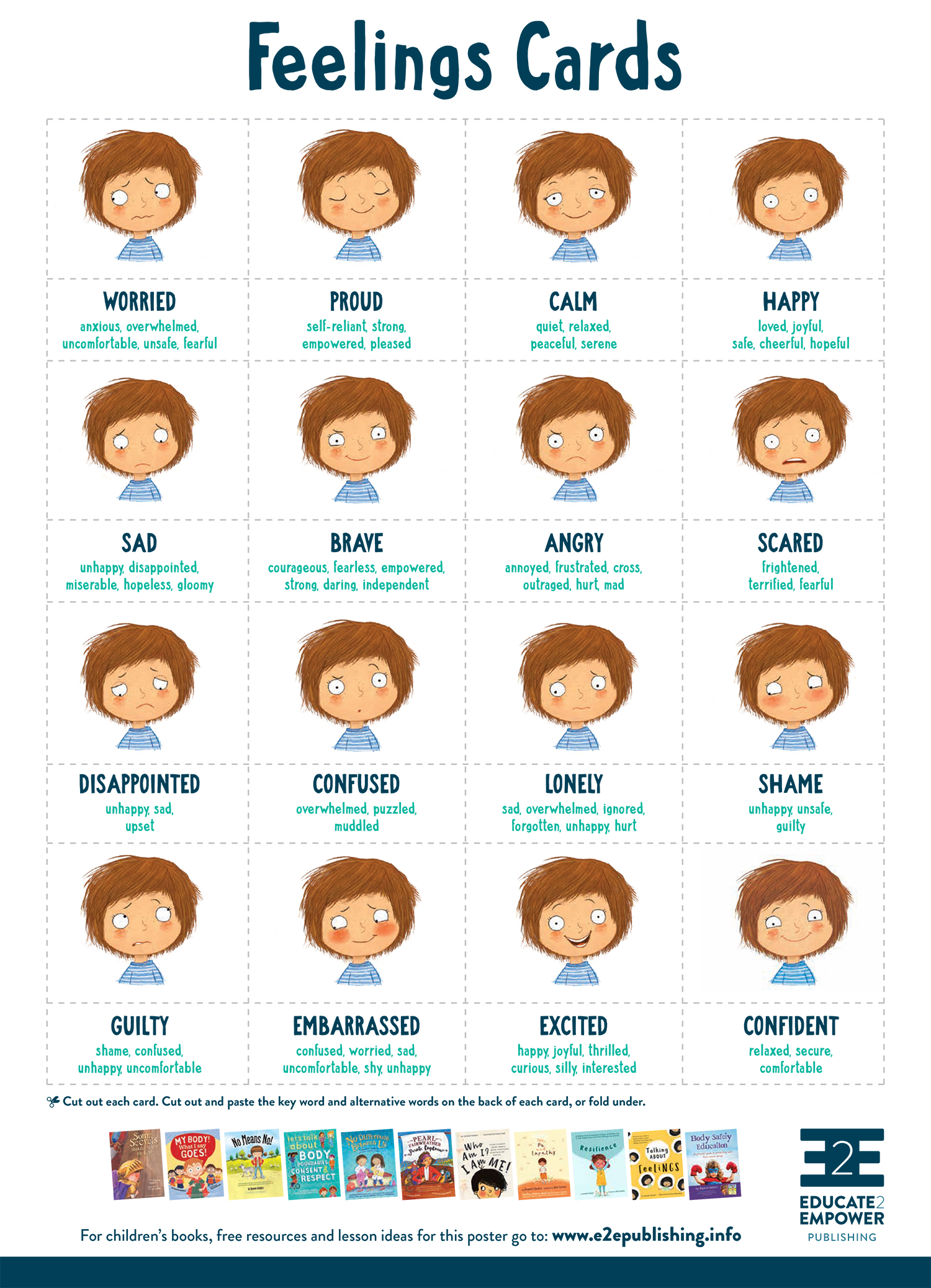 Feelings Cards(A3 Poster) - This poster has two major learning outcomes: 1. Help your child(ren) to more accurately express their feelings by developing their emotional vocabulary.2. Help your child learn to recognize the feelings of others by facial expressions.Would you like a copy? To download, right/control click on the linkand select