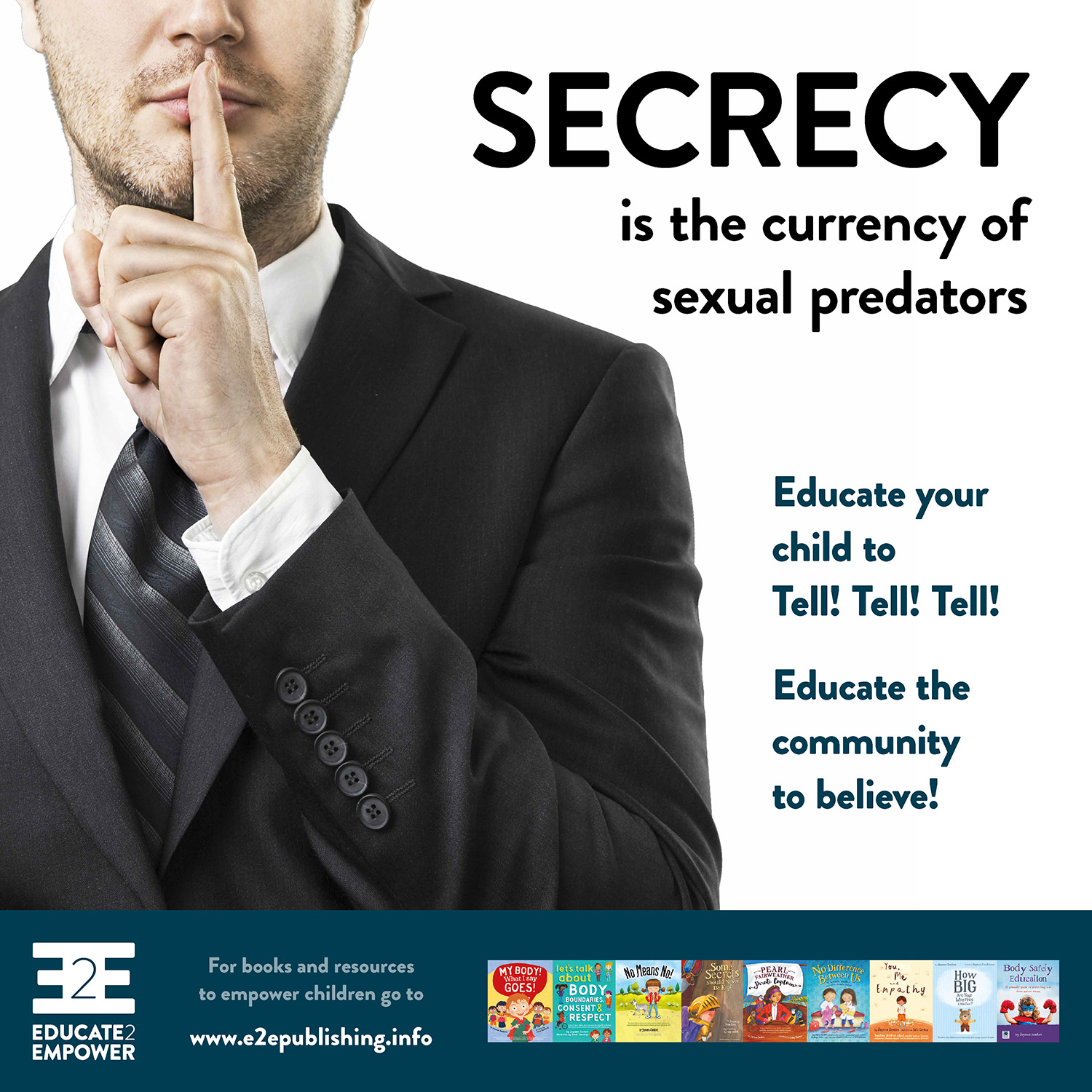 Secrecy is the currency of sexual predators - Would you like a copy?To download, right/control click on on the linkand select