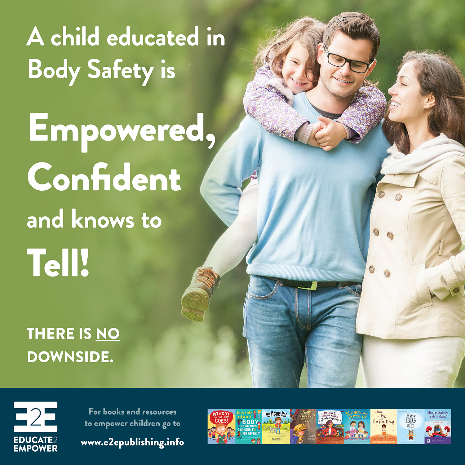 A child educated in Body Safety… knows to Tell! - Would you like a copy?To download, right/control click on on the linkand select
