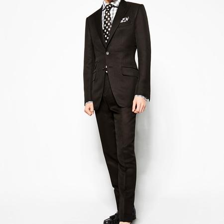 6. A well cut dark suit.
