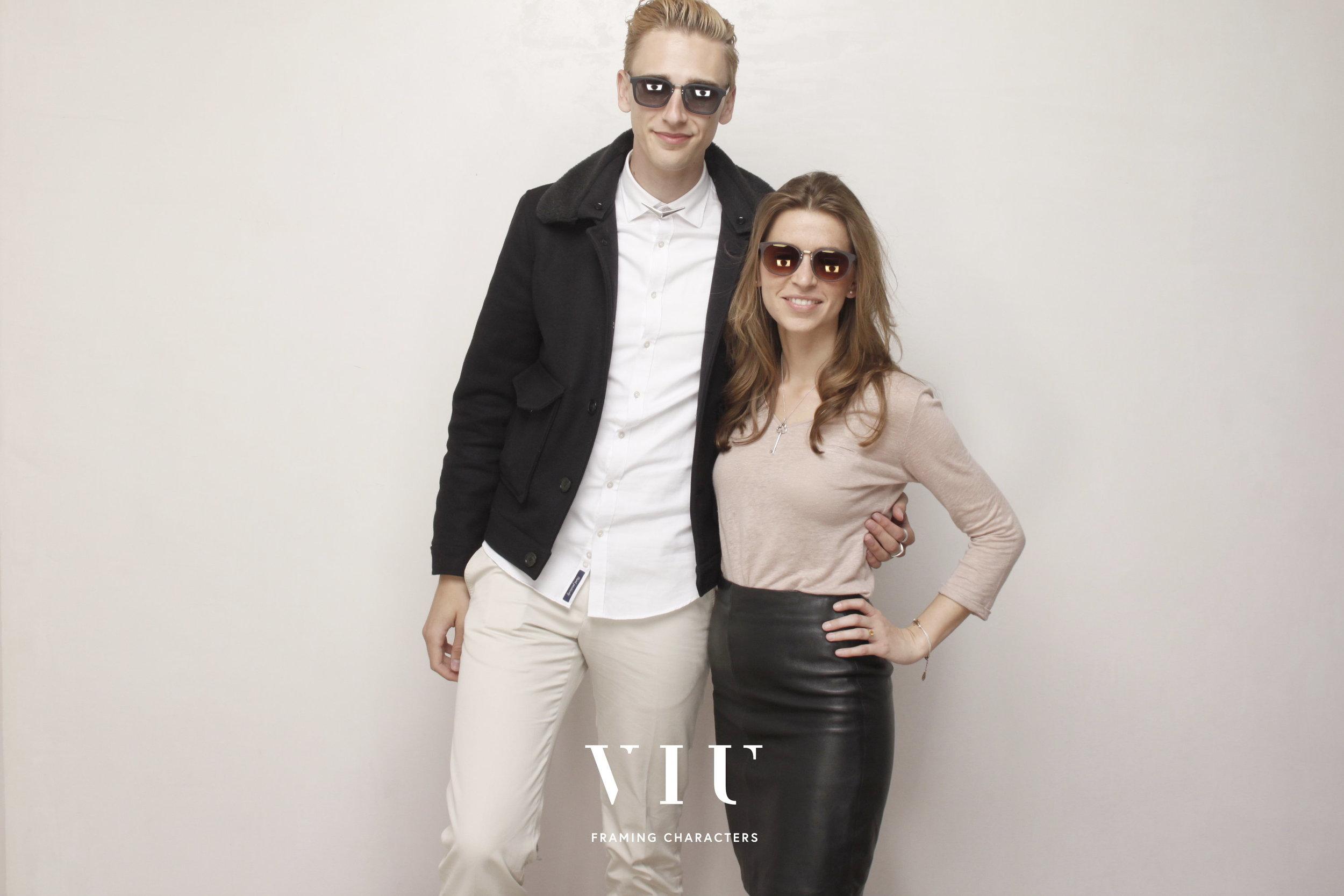 With Manon of VIU, both wearing S/S 2014 sunglasses. Photo © www.egoshooting.com.