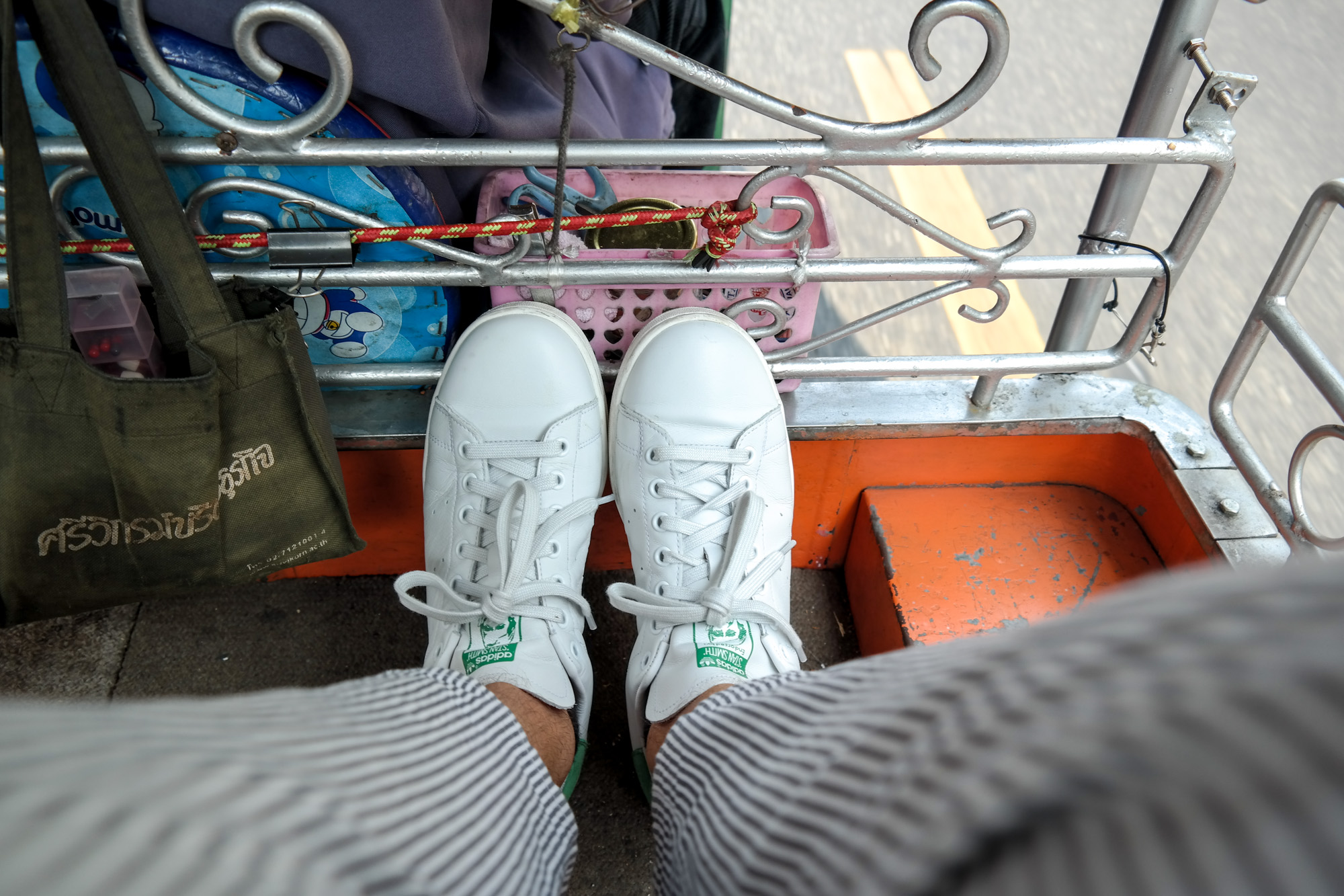 Wearing my new   adidas Stan Smith sneakers   that I got just in time before we left for Thailand.