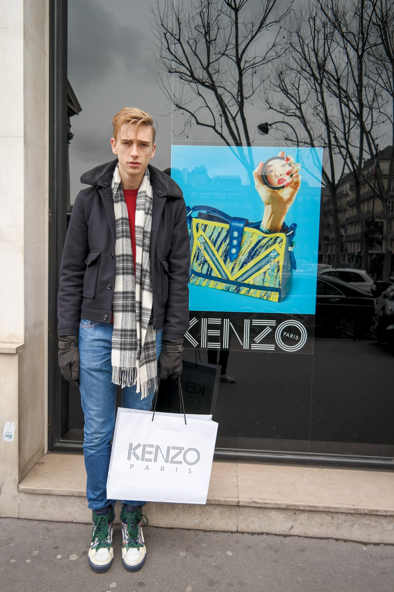 Exhausted after the KENZO shopping spree ;-)