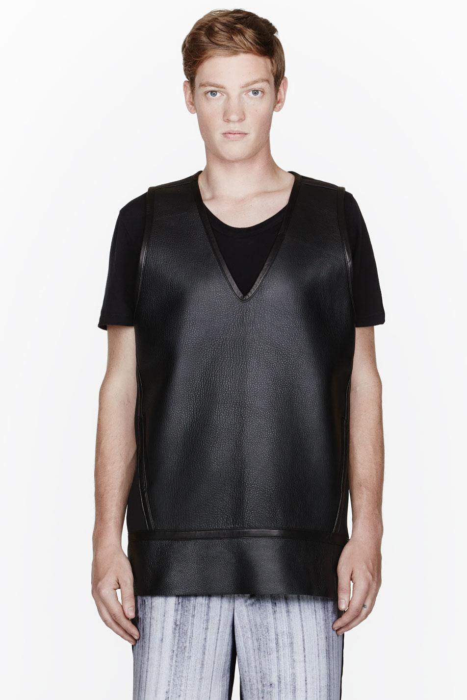 Denis Gagnon leather tank top