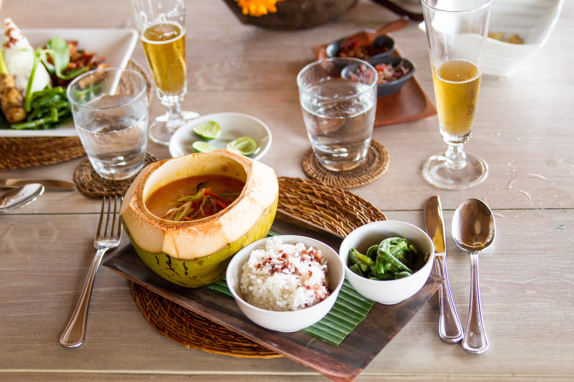 Delicious lunch at the Indus Restaurant, Ubud
