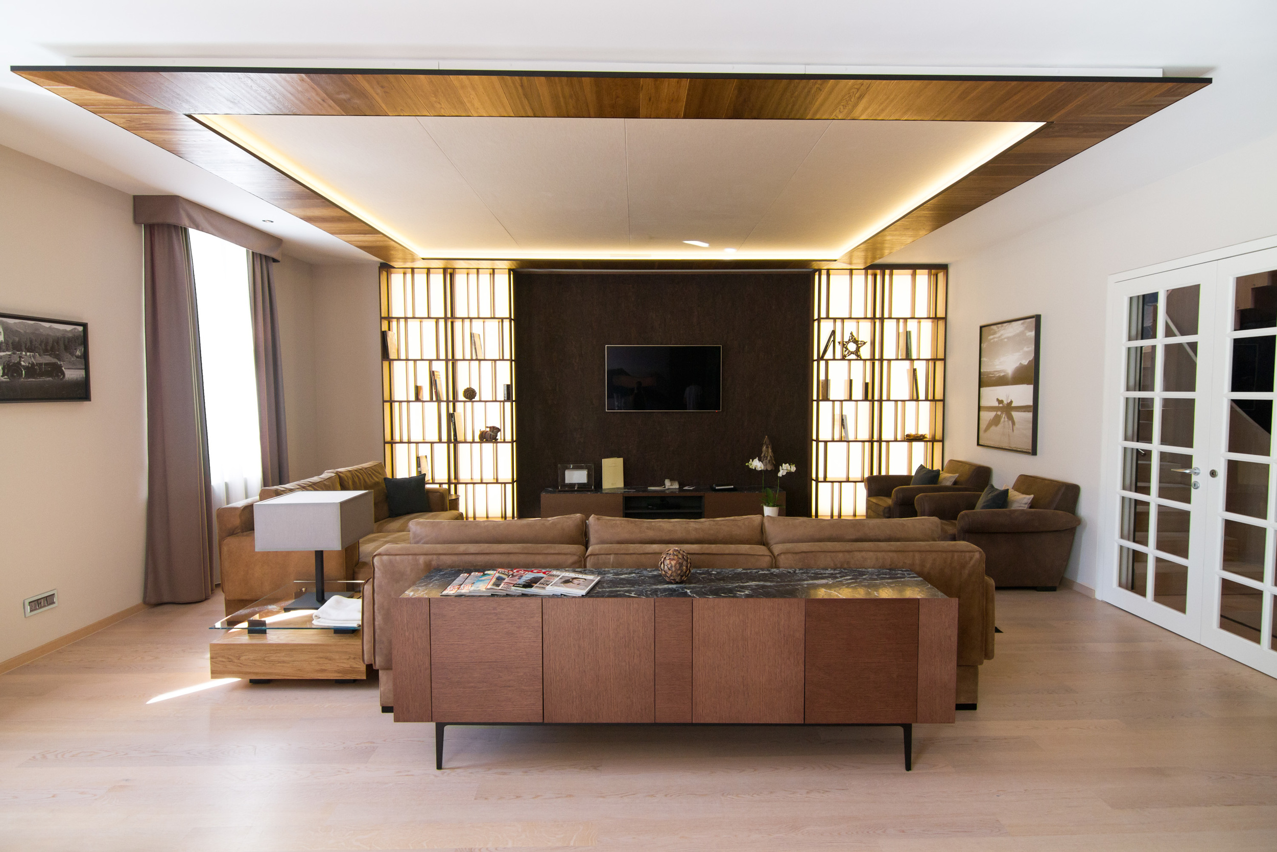 Living room of the Corvatsch Tower residence