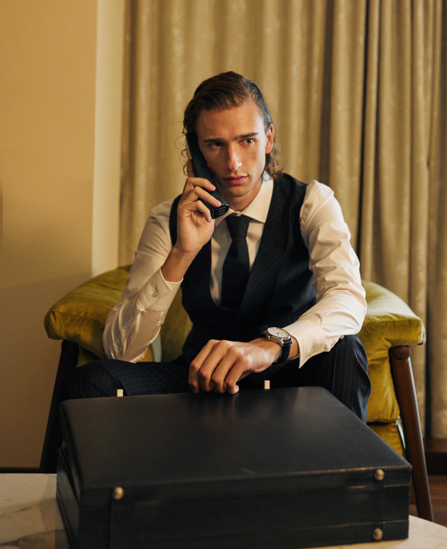 IWC Portugieser Automatic, Gabriele Pasini waistcoat and trousers, BOSS shirt