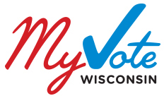 "Click on the ""MyVote"" logo above to register to vote."