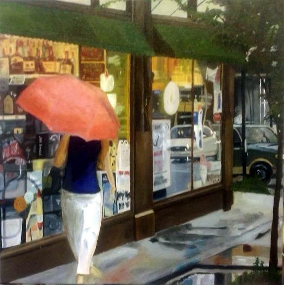 A Walk in the Rain - 16x20