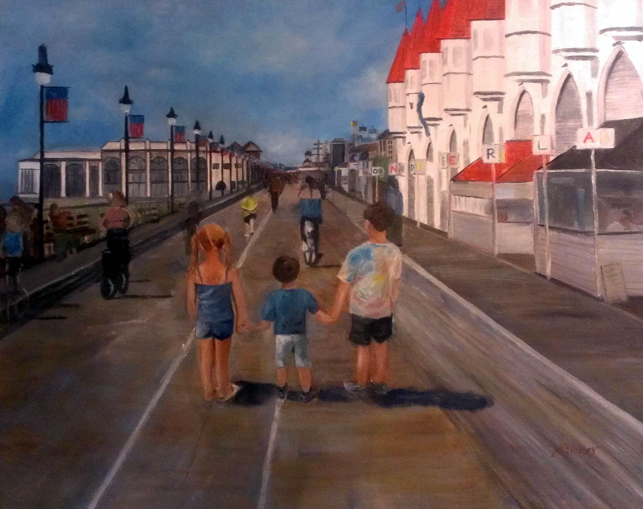 New Jersey Boardwalk - 24x36