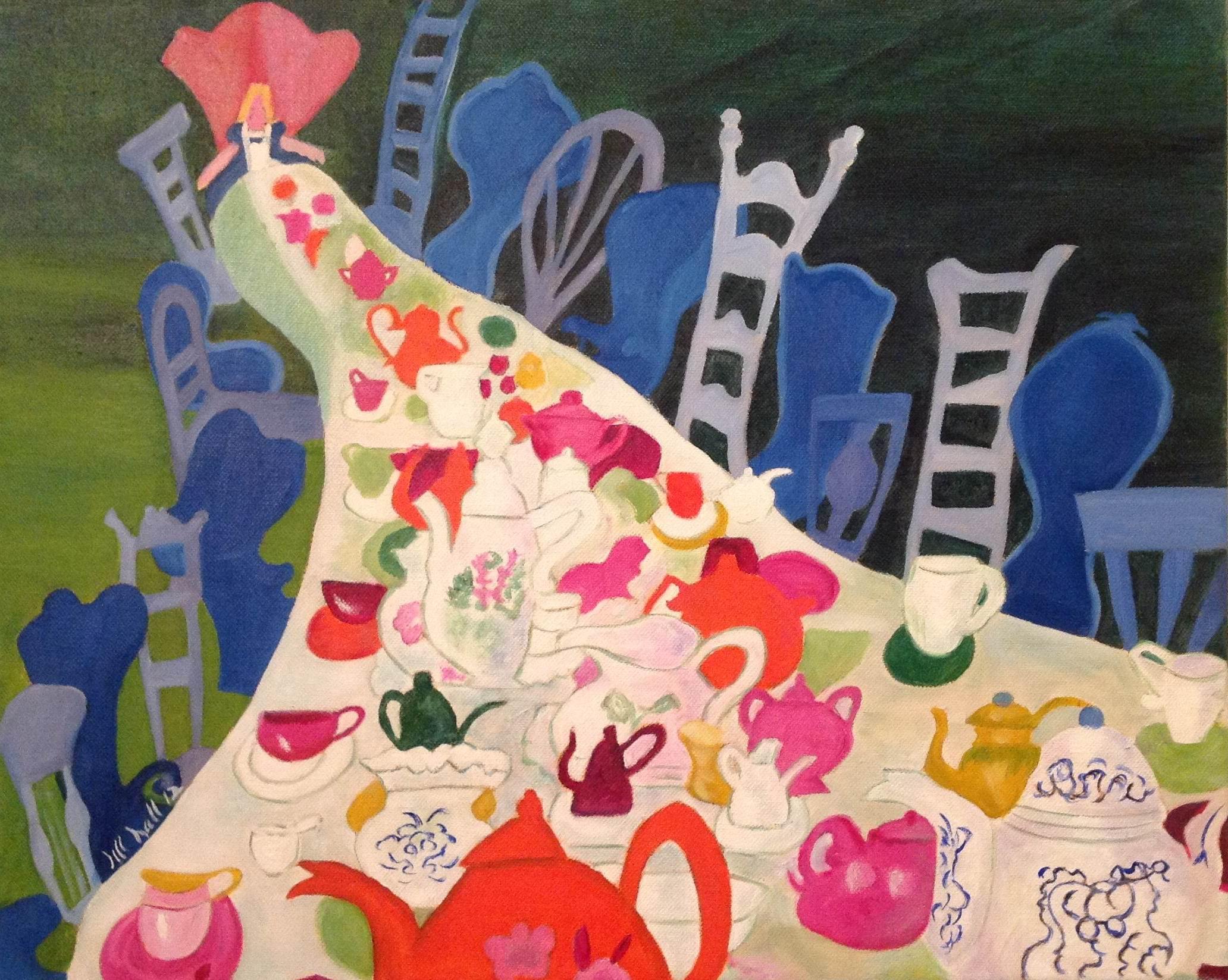 Alice, Mad Tea Party - 16x20