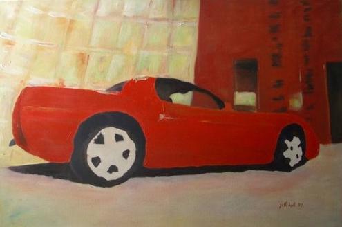 Red Corvette - 24x36