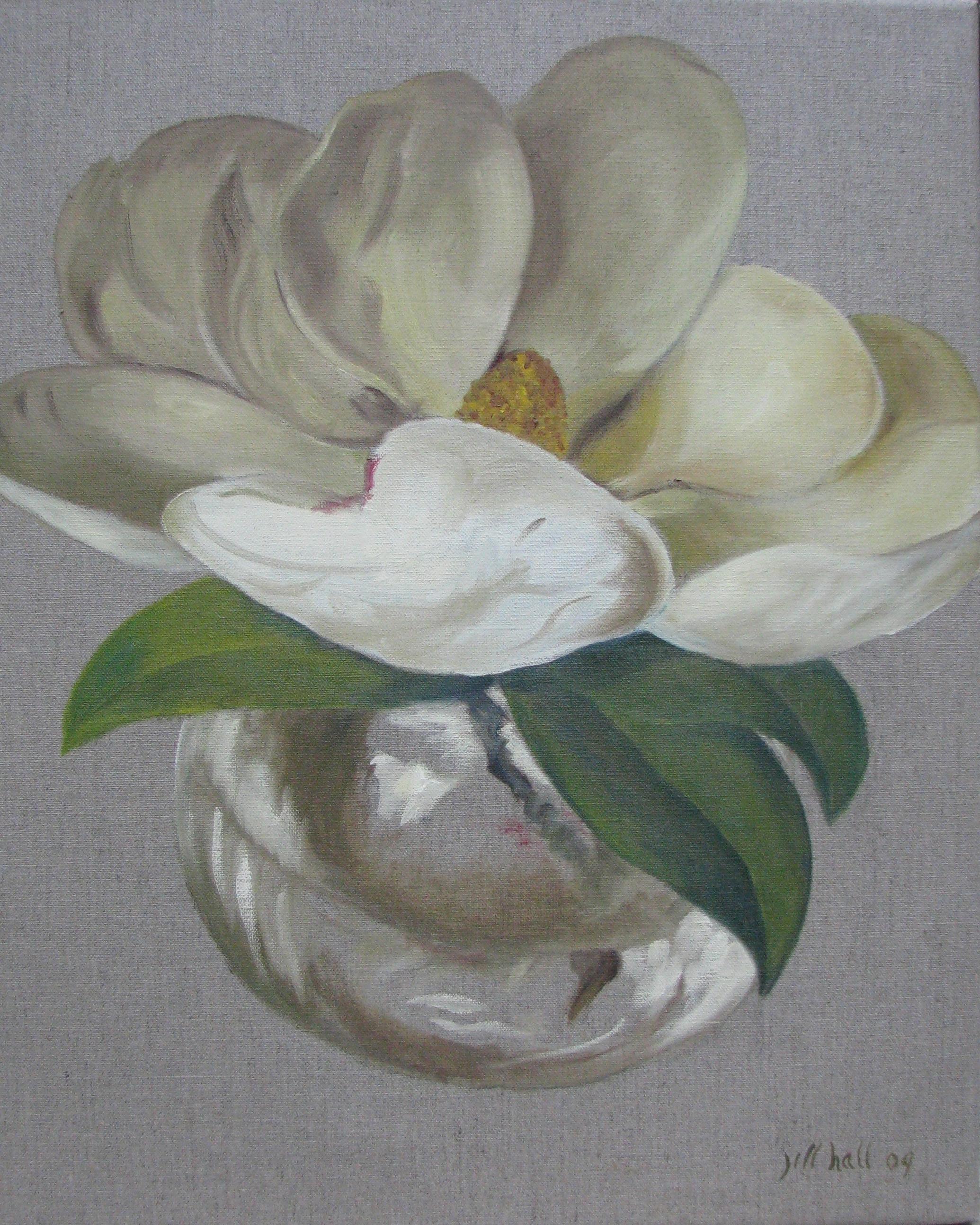 Magnolia - 20x16 on linen