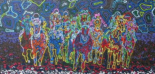 Horse Hysteria -- 12 X 24