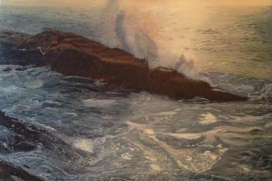 Morning Surf -- 24 X 36