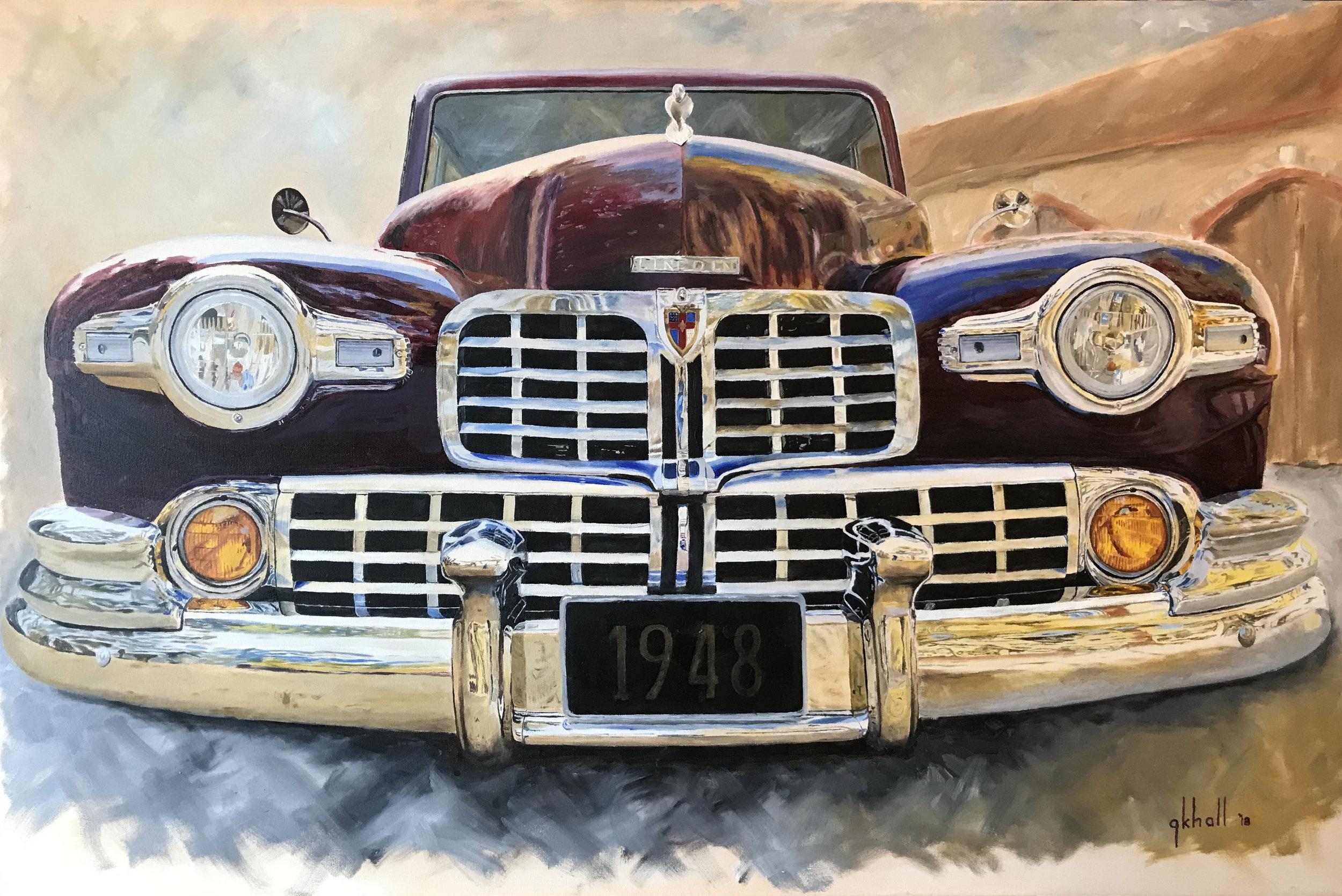 '48 Lincoln -- 24 X 36