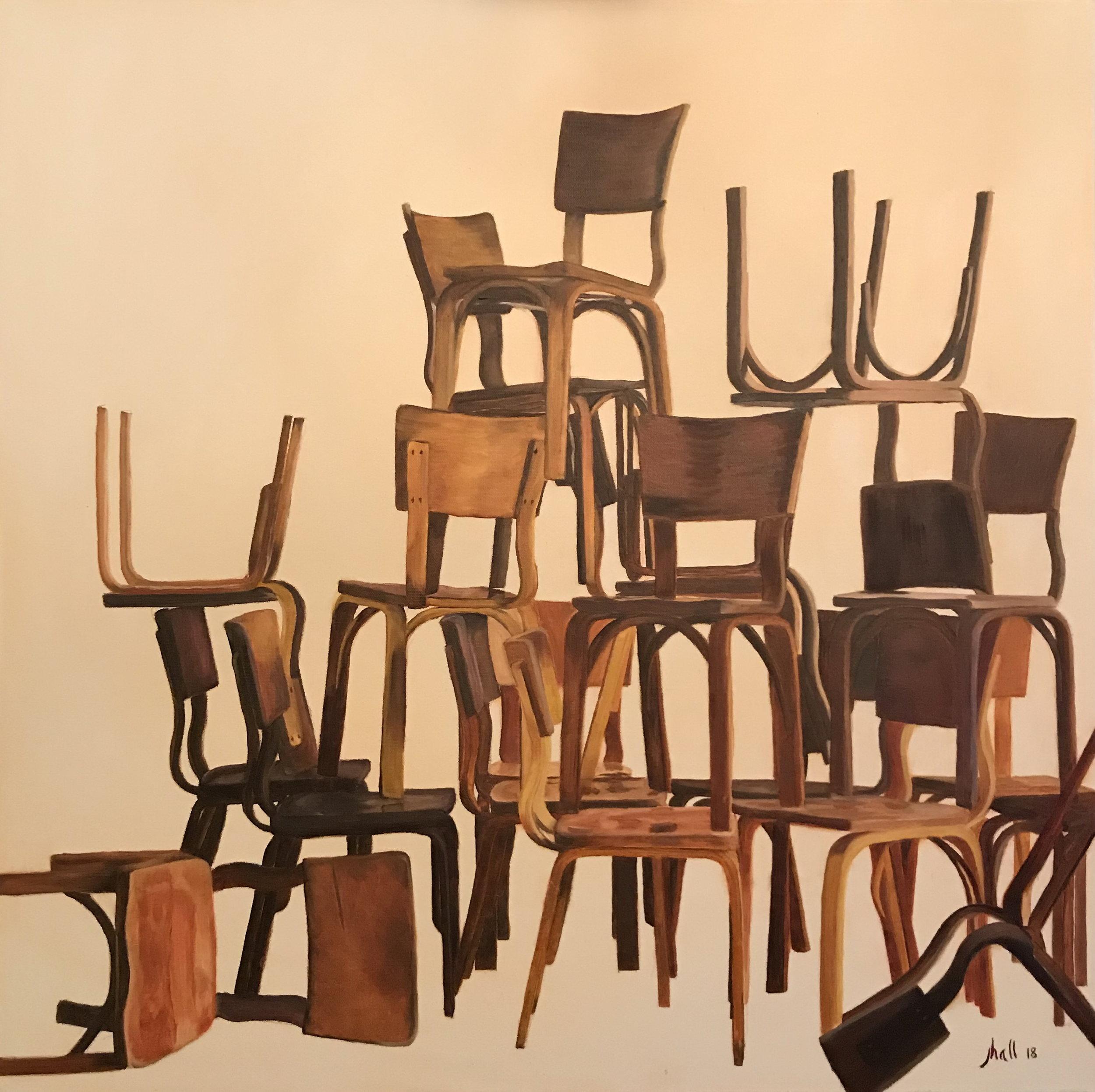 1950s Thonet Chairs - 30 X 30