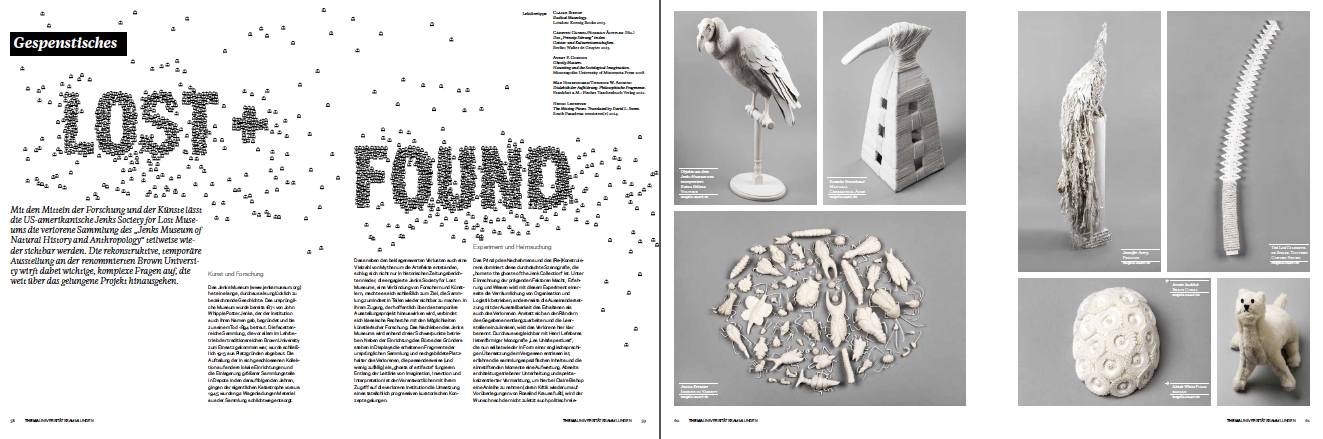The Jenks Society featured in the latest issue of an Austrian arts magazine,  neuesmuseum