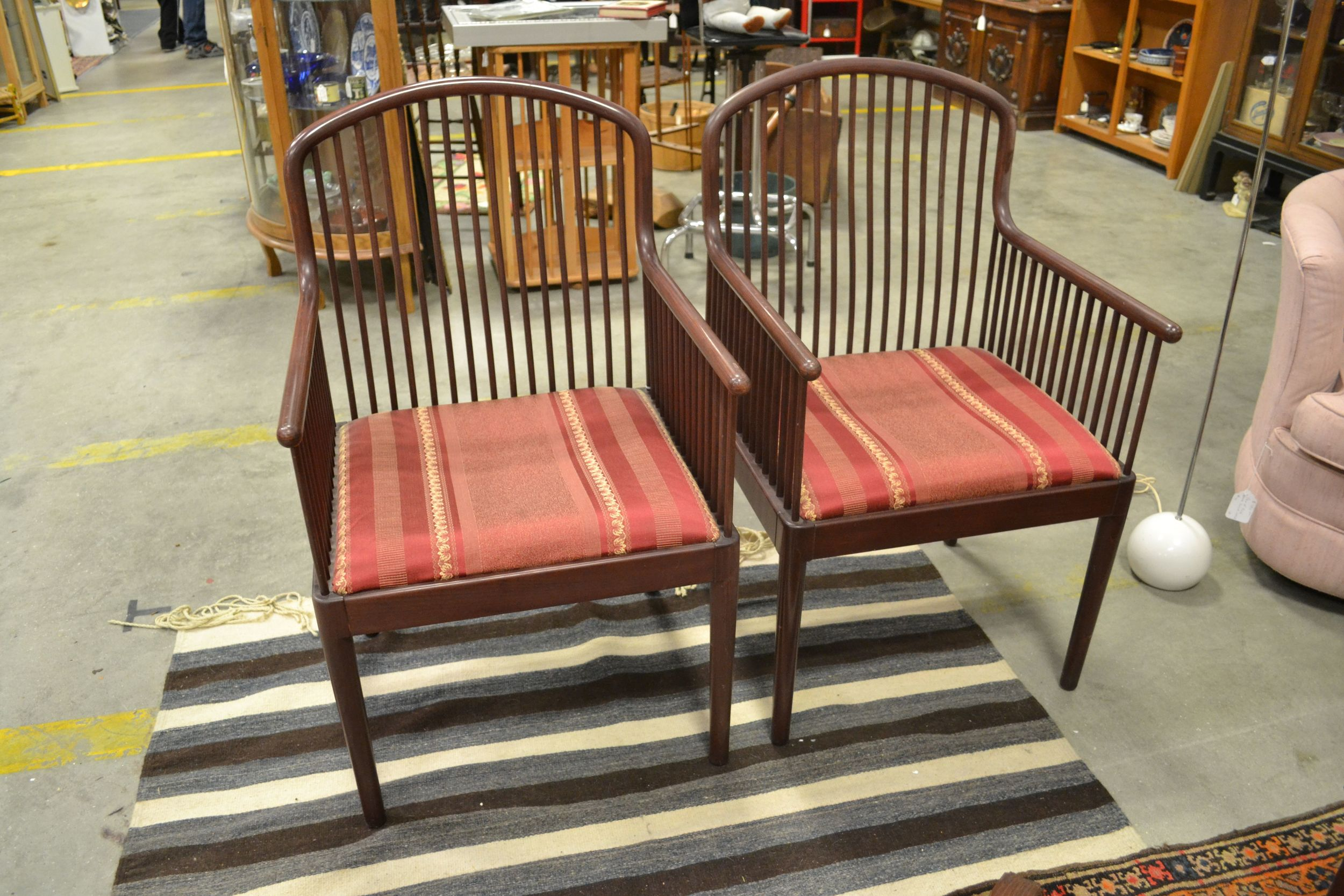 maybe painted, maybe re-upholstered, but a great pair of chairs!