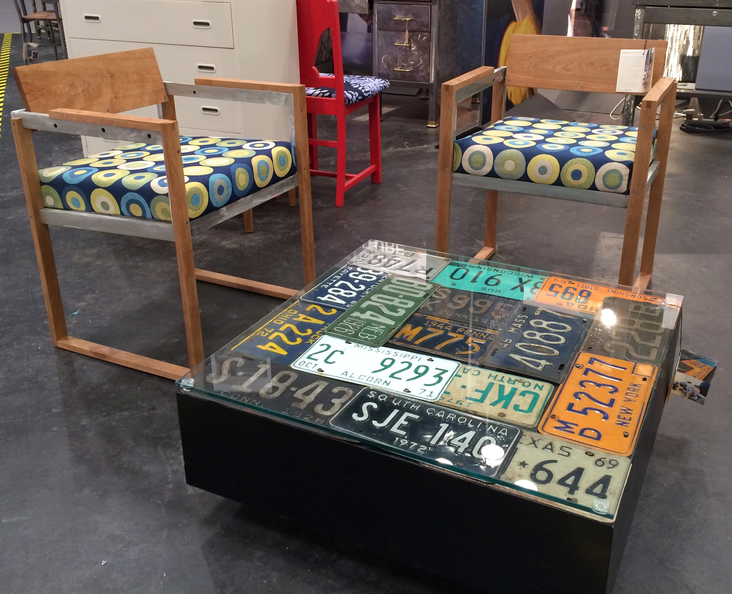 upcycled seating and coffee table