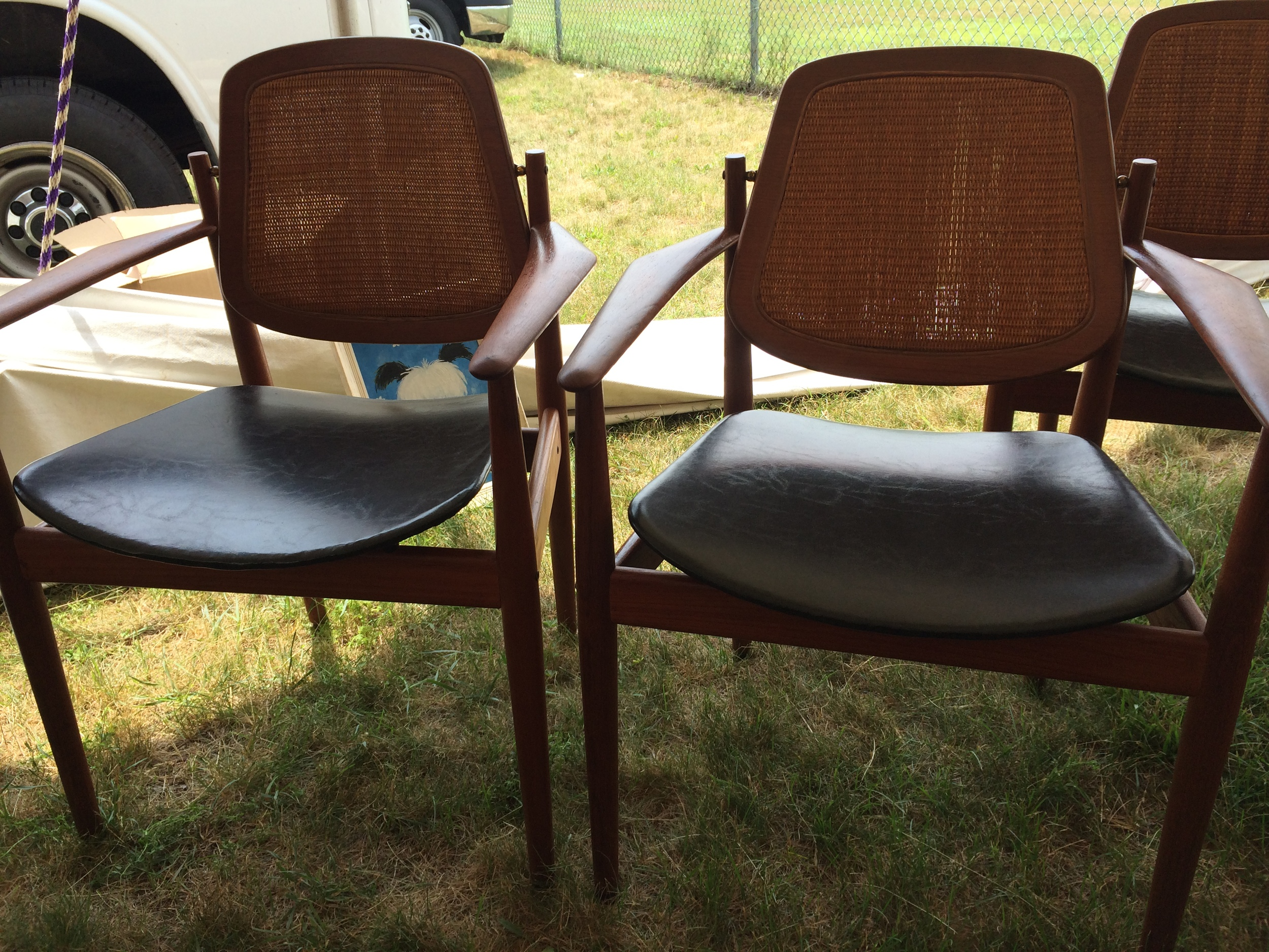 These chairs were just re-caned and in great condition.