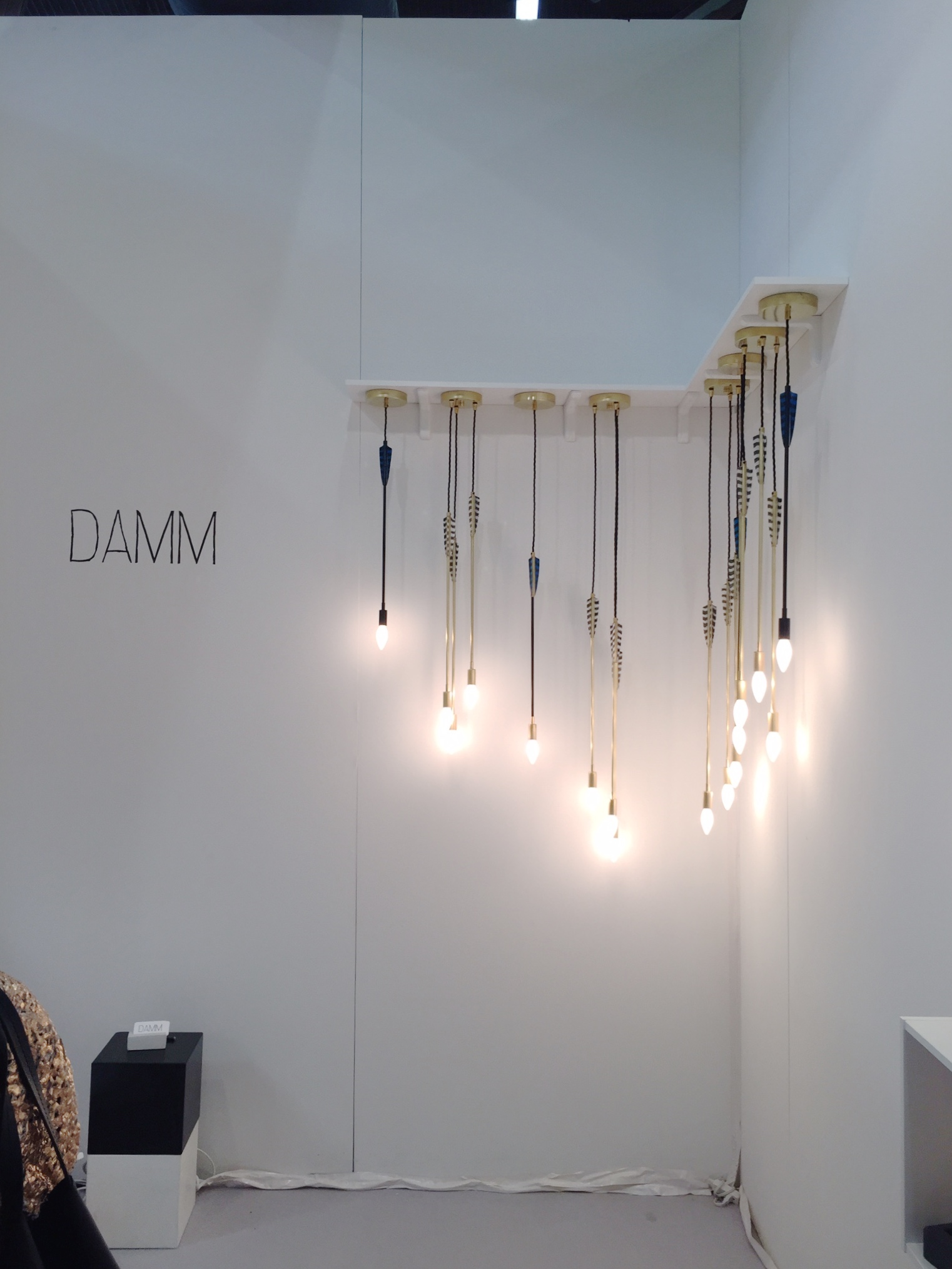 unique and playful lighting by Damm unlike we've seen anywhere else!