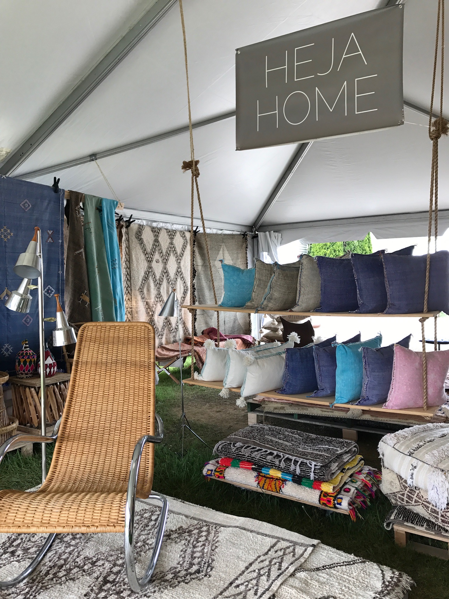 Heja Home  is always one of our favorite booths. Their pilllows are colorful and cozy and their rugs are just ok I guess. JOKES they are amazing.