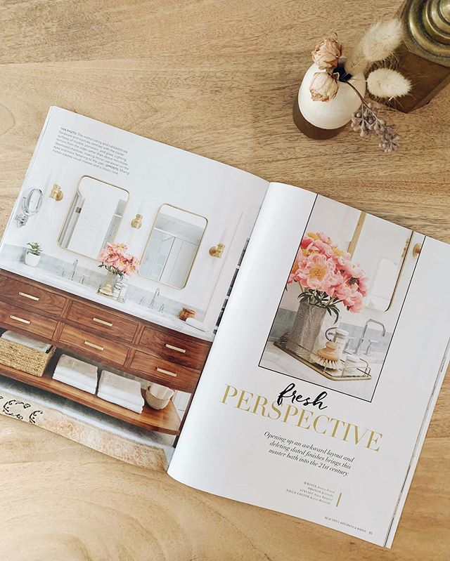 We're in a magazine! Was a good day when we got this in the mail. Look for us in the latest Beautiful Kitchens and Baths by @betterhomesandgardens. 💗💗💗