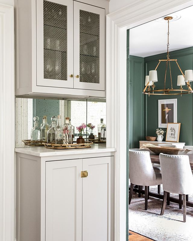 We got a v exciting email from @erinlittlephoto this weekend! So many pretty photos of our really fun historical townhouse project. 👏👏👏 Lots more to come! DR paint is @farrowandball Green Smoke, Cabinets are @farrowandball Cornforth White. Design: Rehabitat Photography: Erin Little Photography Construction: Curran + Sons