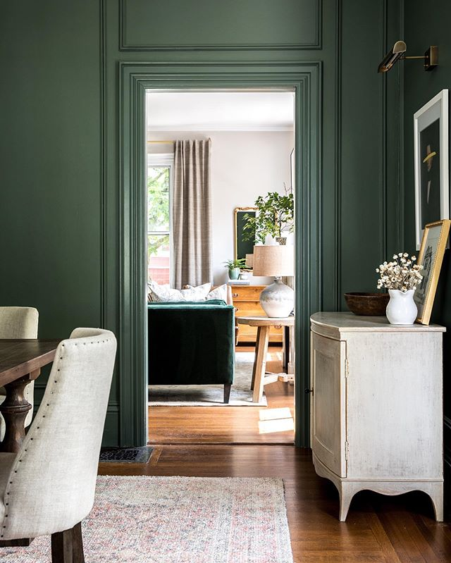 never too much 💚 amirite paint is @farrowandball Green Smoke Design: Rehabitat Photography: @erinlittlephoto Contracting: Curran + Sons