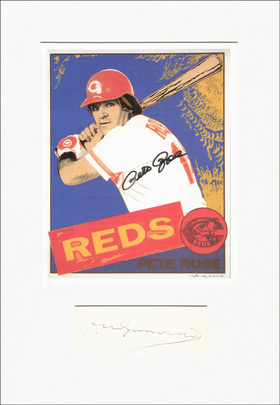 Andy Warhol's famous print, signed by both him and Pete Rose.