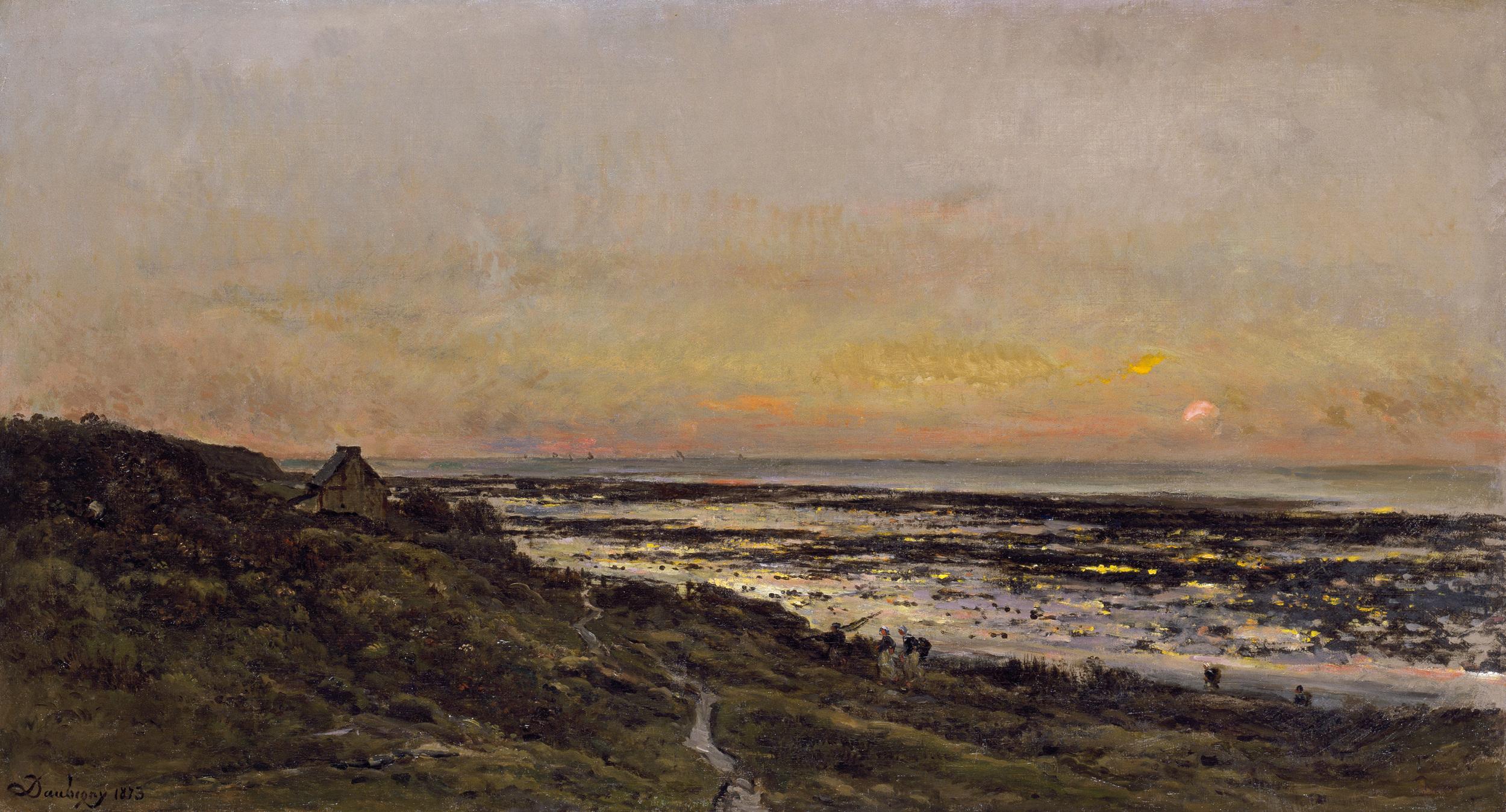 Charles François Daubigny, The Beach at Villerville at Sunset, 1873, oil on canvas. Chrysler Museum of Art, Norfolk, Virginia, Gift of Walter P. Chrysler, Jr.