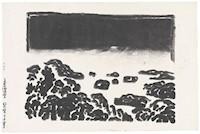 Image:Kōsaka Gajin (Japanese, b.1887, d.1953), Darkness Over , circa 1950, woodcut, The Howard and Caroline Porter Collection, 1986.1436