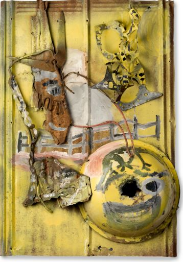 Charlie Lucas.American, born 1951.One-eyed Farmer.Mixed media assemblage.39 1/4 x 26 1/2x 5 in. Gift of Gordon W. Bailey in honor of Ghislain d'Humieres