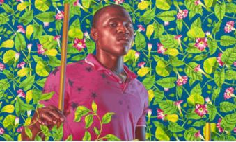 Kehinde Wiley American, born 1977  St Louis IX King of France , 2016 Oil on canvas 72 x 60 inches Collection of Jim and Irene Karp Image courtesy of the artist and Roberts Projects, Los Angeles, California.  Photo Robert Wedemeyer