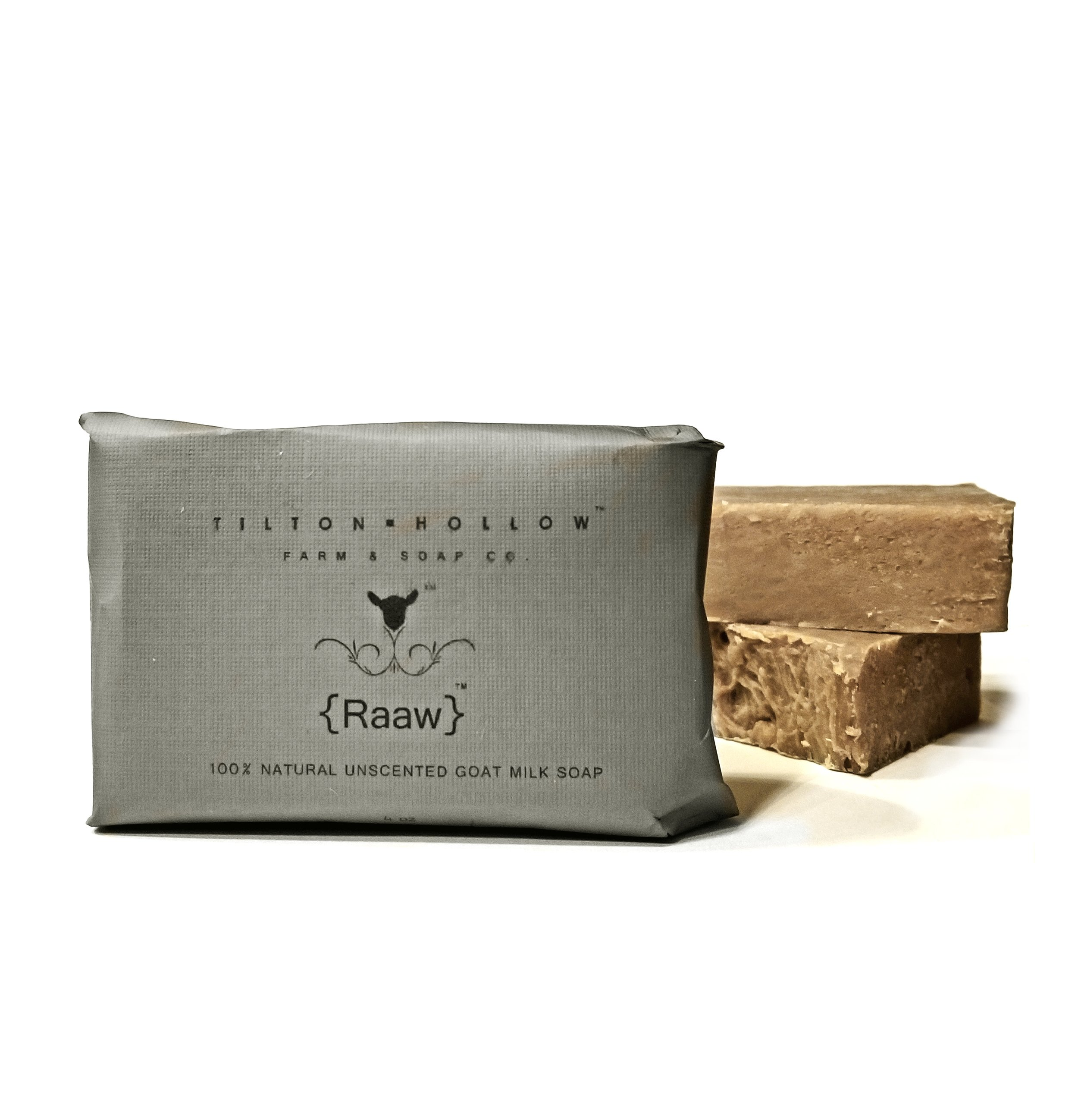 {Raaw} -   UnscentedRaaw, was the very first type of soap we made, and we still love it!100% natural goat milk soapNo scent, just simple, wonderful, soap