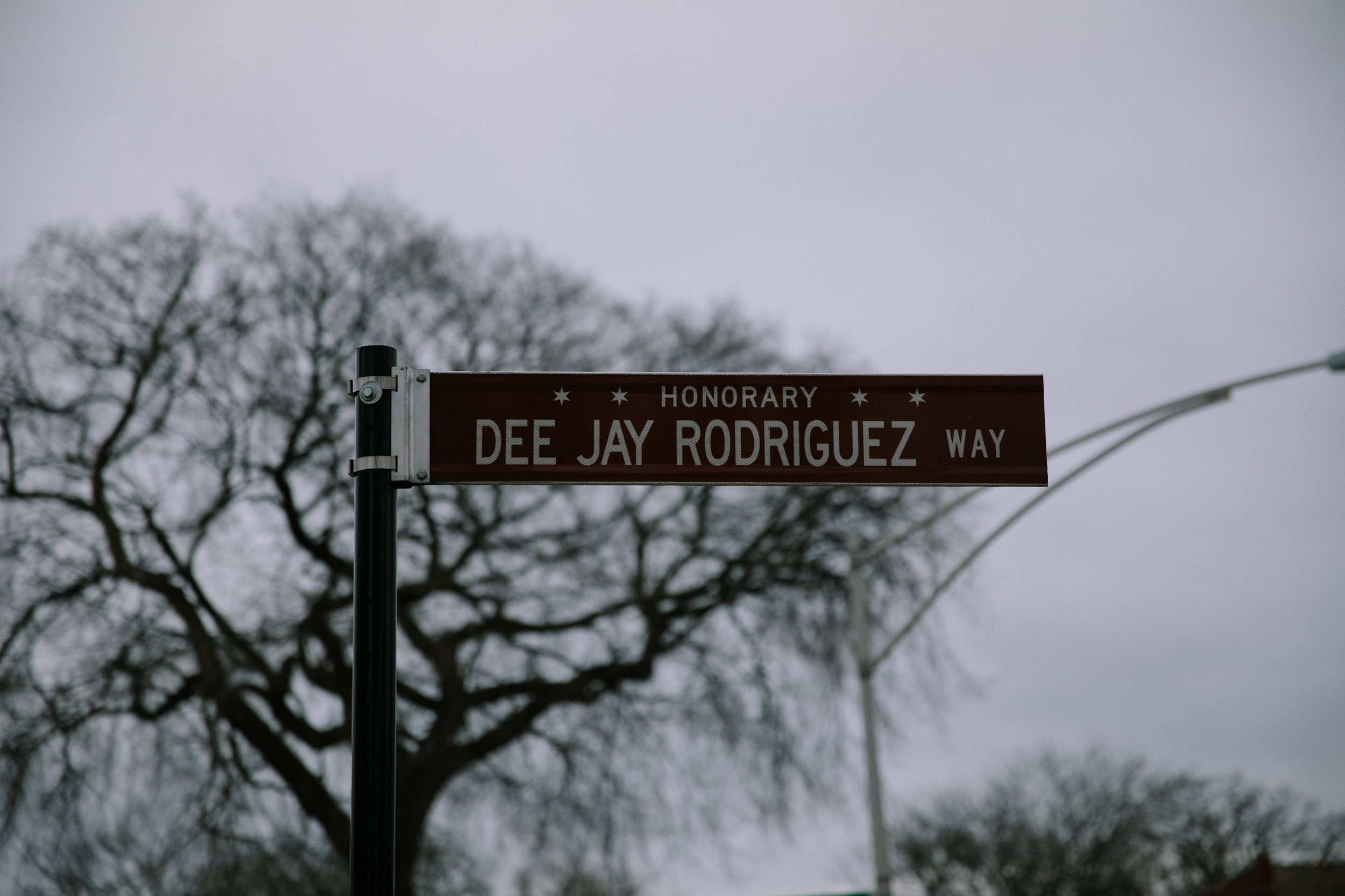 Dee Jay Rodriguez Way borders Blackhawk Park in Chicago's Belmont-Cragin neighborhood. Dee Jay was shot and killed in 2011 at the young age of 23. In the aftermath of his death, Dee Jay's mother, Elizabeth Ramirez, co-founded Parents for Peace and Justice, a support and advocacy organization for parents who have lost children to gun violence in Chicago. MCC partners with Parents for Peace and justice to help support their important work.