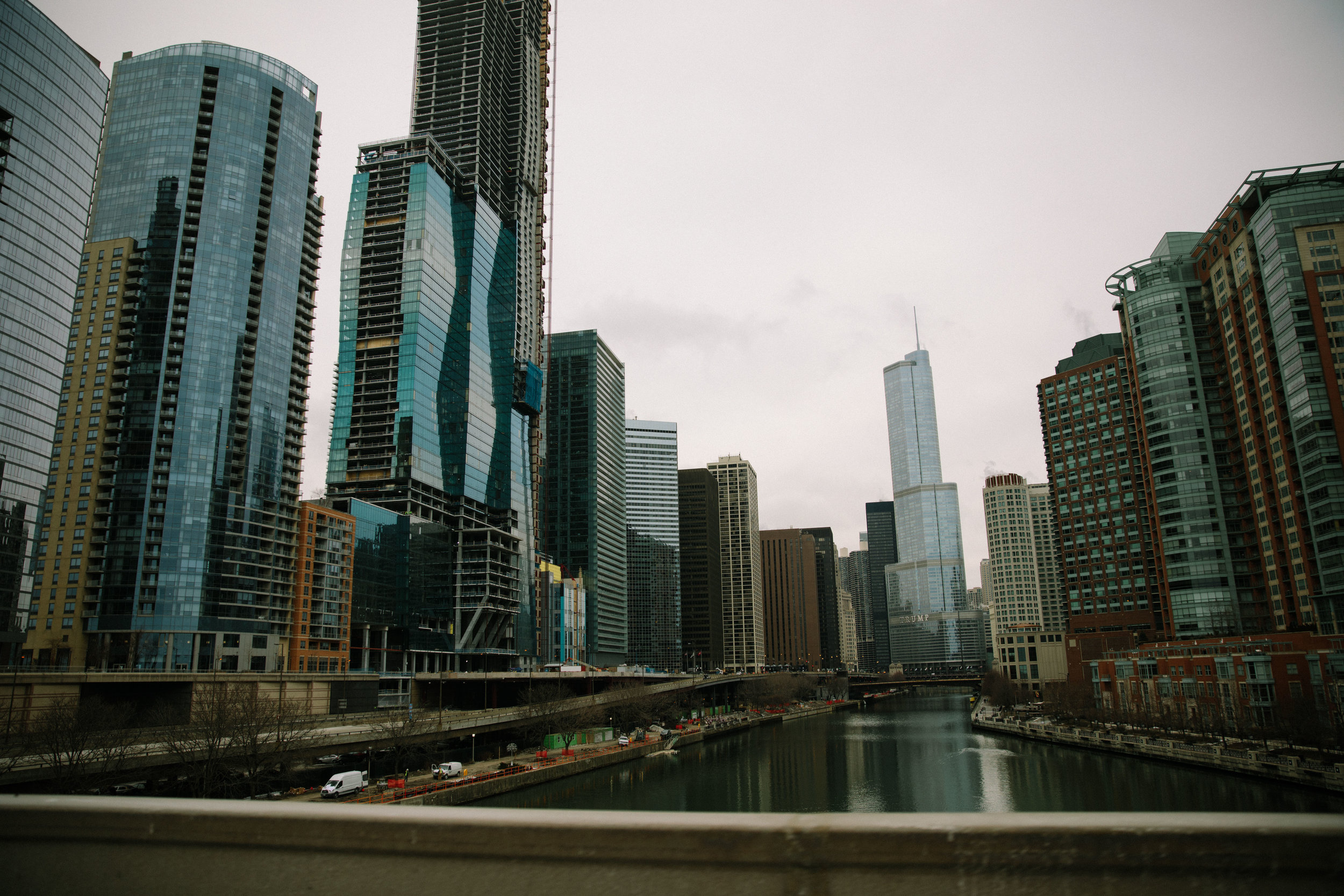 The Chicago River flows into Lake Michigan in downtown Chicago, Illinois. Chicago is home to MCC partner organization, Parents for Peace and Justice, a support and advocacy organization for families who have lost kids to gun violence in Chicago.