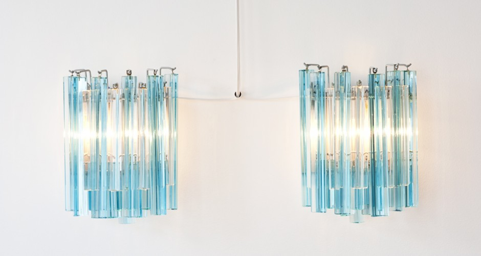 Glass Sconces.