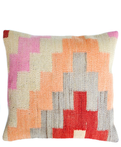 Kilim Pillow, Pastel interlock - Christian Rathbone
