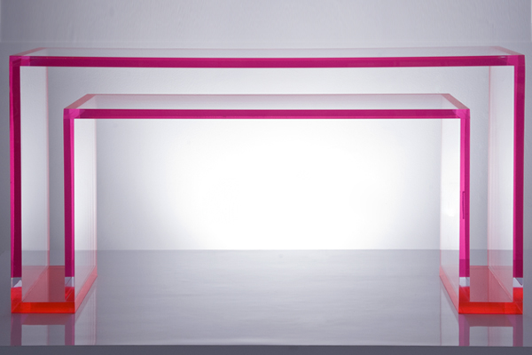 AVF Brilliant Acrylic Console Table Red