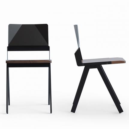 Lockwood Steel & Wood Chair