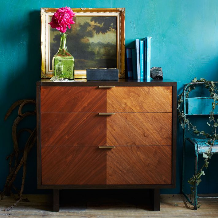 Chevron Grain 3-Drawer Dresser from West Elm