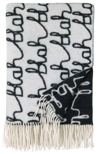 Blah Blah Wool Throw (leif shop)