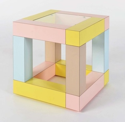 Mimosa side table (1984) by ettore Sottsass