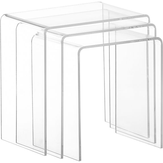 Peakaboo Clear Nesting Tables CB2